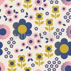 Chemin des fleurs Motif Vectoriel Sans Couture