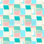 Barcos Abstratos Design de padrão vetorial sem costura