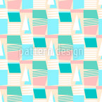 Abstrakte Segelboote Muster Design