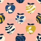 Apfelbaumblätter Nahtloses Muster