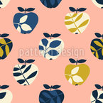 Apple Tree Leaves Seamless Pattern