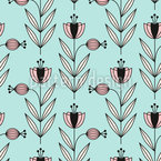 Lined Buds Seamless Vector Pattern