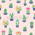 Cactus Farm Seamless Vector Pattern Design