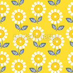 Delight In Sunflowers Seamless Vector Pattern Design