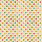 círculos unidos Design de padrão vetorial sem costura