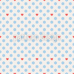 Cold Hearts Of Winter Seamless Pattern