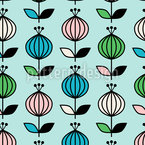 Dance Of Spring Buds Seamless Vector Pattern