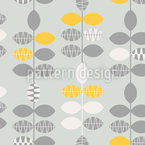 Delicate Spring Leaves Pattern Design