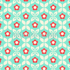 Mirrored Meadow Seamless Pattern