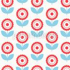 Zarte Rundblüten Nahtloses Vektor Muster
