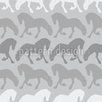 Friesian Silhouette Repeating Pattern