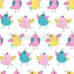 Poka Dot Birds Pattern Design
