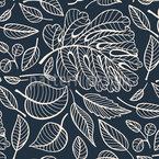 Durchsichtige Blätter Nahtloses Vektor Muster