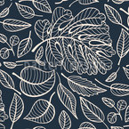 Transparent Leaves Seamless Vector Pattern