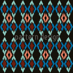 Tribal Dance Night Seamless Vector Pattern Design