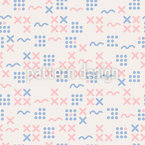 Cross And Wave Repeat Pattern