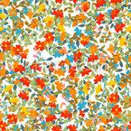 Fröhliches Blumenlaub Nahtloses Vektormuster