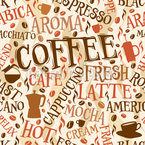 Kaffeeliebe Nahtloses Vektormuster
