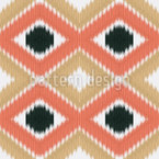 Ikat Seamless Vector Pattern Design