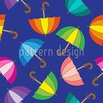 Guarda-chuvas coloridos Design de padrão vetorial sem costura