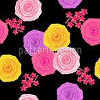 Rosas abstractas en estilo vintage Estampado Vectorial Sin Costura