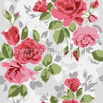 Garden Roses Seamless Vector Pattern Design