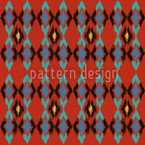 Tribal Dance Fire Pattern Design