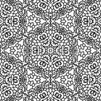Flor Dançando Design de padrão vetorial sem costura