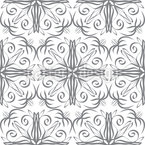 Connected floral Lines Seamless Vector Pattern Design