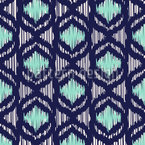 Ocean Ikat Seamless Vector Pattern Design
