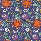 Hinterhof Blumen Rapportiertes Design