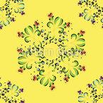 Blumenmagie Nahtloses Vektormuster