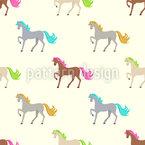 Kleiner Pferde-Regenbogen Musterdesign