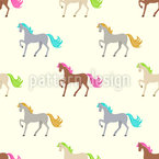 Little Horse Rainbow Pattern Design