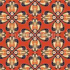 Retro Flower-Eye Repeat Pattern