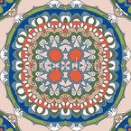 Retro Blumen-Auge Muster Design
