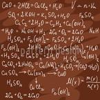 Fórmula Química Design de padrão vetorial sem costura
