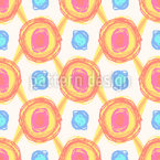 Decoração Pixled Design de padrão vetorial sem costura