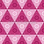 豪華な三角形 シームレスなベクトルパターン設計