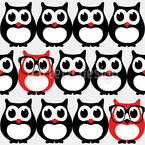 Owl Geek Seamless Vector Pattern Design