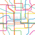 Subway Map Vector Pattern