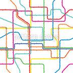 U-Bahn-Karte Nahtloses Vektormuster