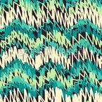 手描きジグザグ シームレスなベクトルパターン設計