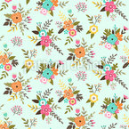 Vintage Bouquets Seamless Vector Pattern Design