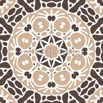 Mosaico Etno Design de padrão vetorial sem costura