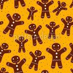 Weihnachts-Lebkuchenmann Muster Design