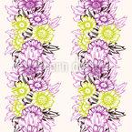 Flower Power Stripes Design Pattern