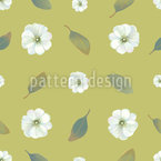 Summer Blossoms Seamless Vector Pattern Design