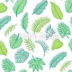 Tropische handgezeichnete Blätter Vektor Muster