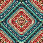 Aztekische Totenschädel Muster Design